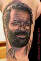 Bud Spencer Tattoo Portrait tätowierer tattoostudio essen Terence hill