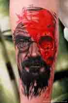 Heisenberg Tattoo Walter White Braking Bad Trash Polka