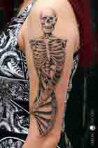 kelett skeleton skull bones essen tattoo